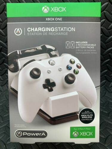 PowerA Dual Charging Station Rechargeable Battery Packs for Xbox One Controllers