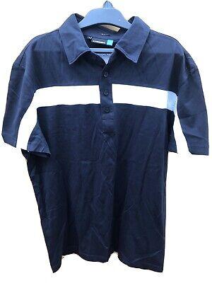 J Lindeberg Golf Mens Polo Shirt Baby Black Medium Slim Fit. Bnwot