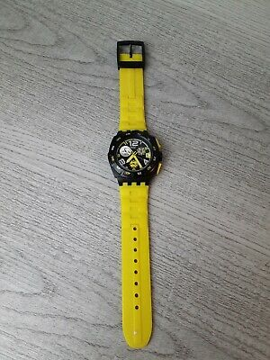 SWATCH WATCH CHRONOGRAPH SPORT MEN'S WATCH black yellow SWISS AG 2007