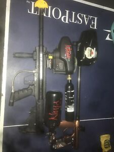 Speedball and woodsball paintball package