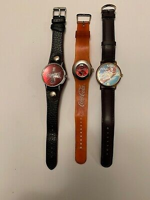 Coca Cola Watch Lot No Box All Have New Battery And Are Working