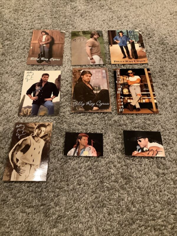 Lot Of 9 Billy Ray Cyrus The Spirit Fan Club Post Cards Country Music Singer