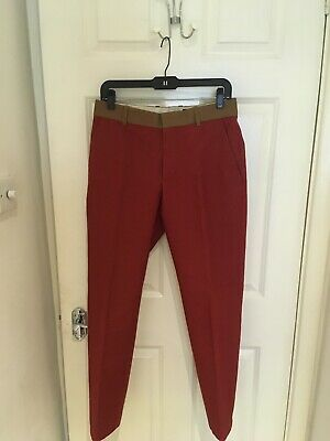 Alexander McQueen red Trousers-  size 30
