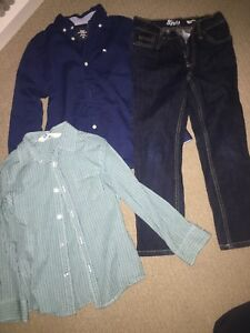H&M and B'gosh blue jeans
