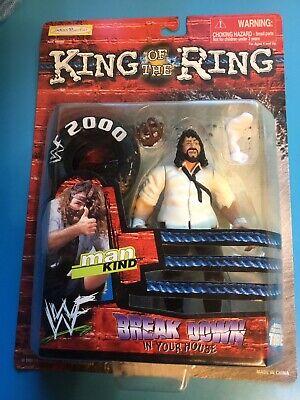 WWE WWF Mankind King Of The Ring Wrestling Action Figure! 1999 Jakks Pacific VTG