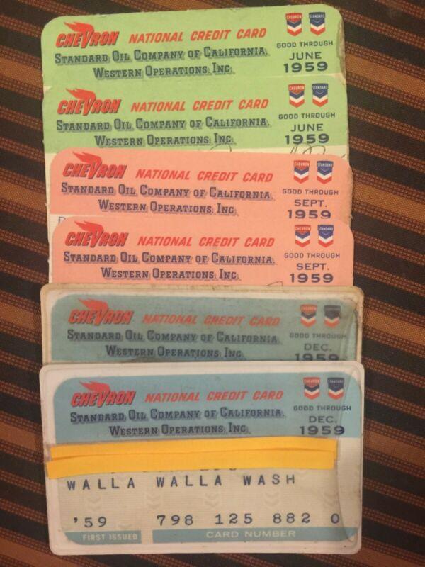 Chevron Standard Oil Co. california national 1959 Vintage Collectors credit card