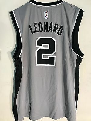 Adidas NBA Jersey San Antonio Spurs Kawhi Leonard Grey sz L