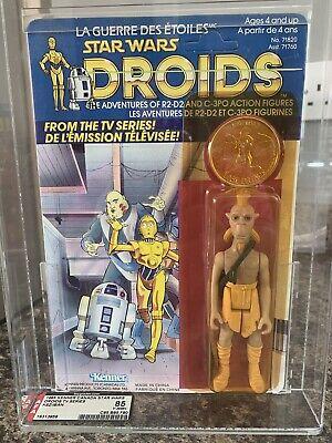 Vintage Star Wars 1985 AFA 85 Y-NM+ Cartoon Droids Series, KEZ-IBAN, Kenner F/C