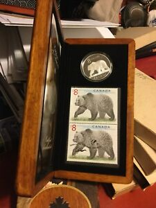 2004 Royal Canadian mint stamps +$8 coin