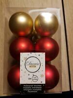 Christbaumkugeln Weihnachtsbaumkugeln Plastik Rot Gold 6 cm matt Bayern - Wernberg-Köblitz Vorschau