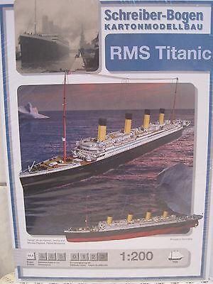 RMS Titanic 1:200 Schiff Kartonbausatz *NEU* Schreiber- Bastelbogen