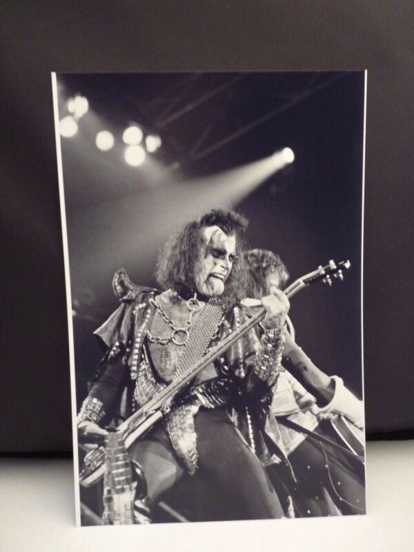 Kiss 1977 L.A. Forum Gene Simmons Live 8x12 Photo #9 From Original Negative