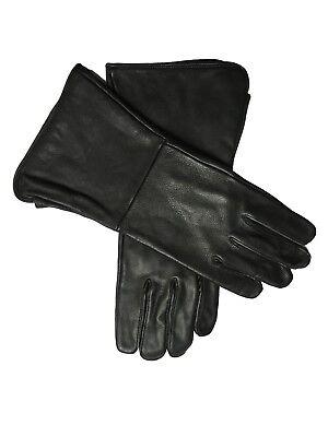 Cowboy Larp Kostüm Lang Gauntlet Leder Mittelalterlich Handschuhe Kein - Kostüm Gauntlet