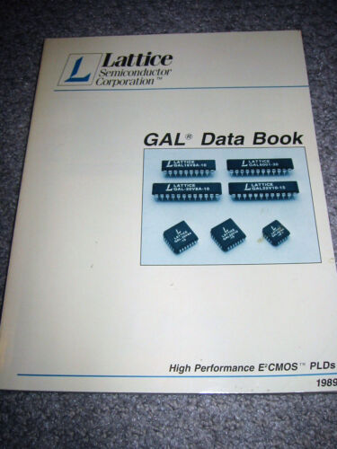 Lattice Semiconductor GAL Data Book - 1989 High Performance CMOS PLDs