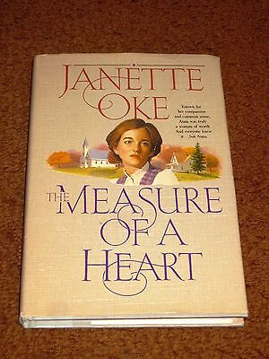The Measure of a Heart Bk. 6 by Janette Oke (1992, Hardcover) DJ VG Condition