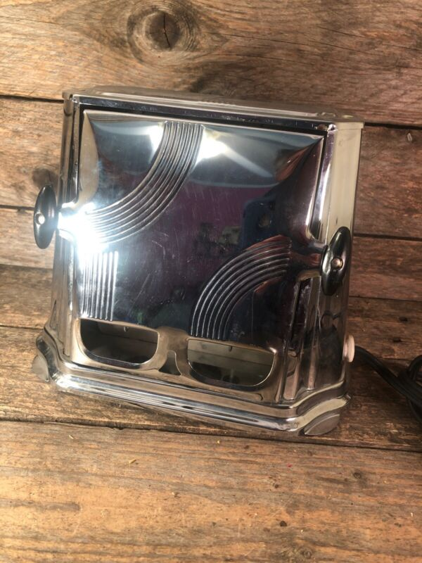 Antique Art Deco Electric Sun Chief Model #680 2 Slice Working Toaster