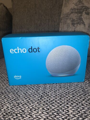 New In Package Echo Dot 4th Gen Smart Speaker With Alexa Twilight Blue  - $24.70