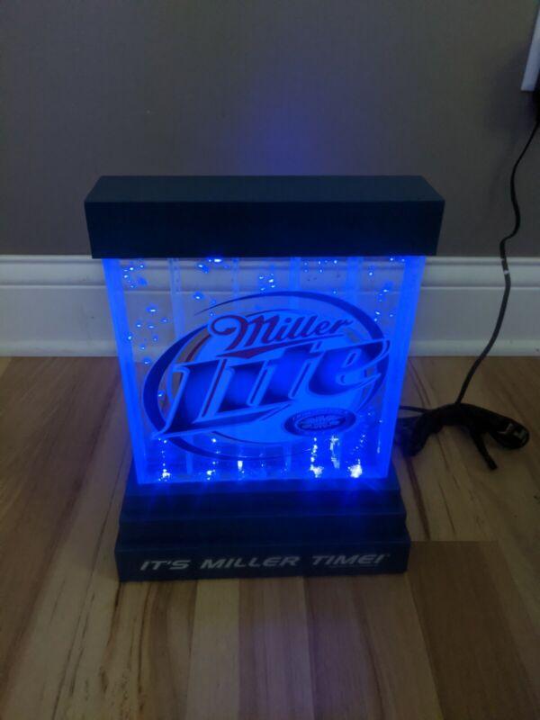 Rare NOS Miller Lite Beer Bubbler Water Bar Back Display Sign 9x14