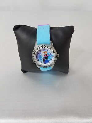 DISNEY GIRLS FROZEN ANNA & ELSA  STRECTH BAND TIME WATCH