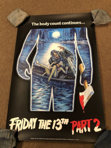 Friday The 13th Poster By Spiros Angelikas Bottleneck Gallery Like Mondo Damage - $150.00