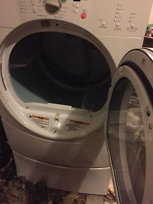 WHIRLPOOL DRYER DUET 60HZ MODEL GEW9250PWO W/PEDESTAL FOR PARTS Make Offer