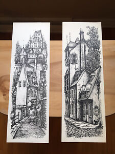 Old Quebec hand drawings