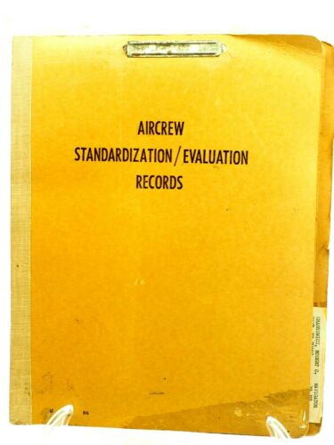 Aircrew Standardization /Evaluation Records Cpt.R.Gransewicz Navigator 1960