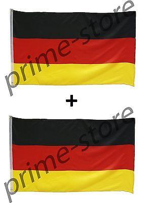 2 Fahnen SET Deutschland Fahne 90x150 Hissfahne Hissflagge Flagge