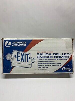 Lithonia Lighting Quantum Series Lhqm Led Exit Unit Combo - Lhqm S W 3 R M4