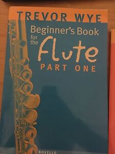 Trevor Wye Flute books 1 and 5 Waratah West Newcastle Area Preview