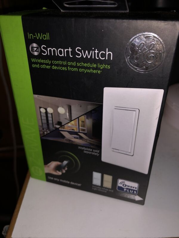 New Unopened Jasco GE Z-Wave Plus In-wall Wireless Smart Switch 14291