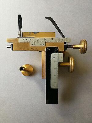 Ernst Leitz Wetzlarantique Bronze Kreuztich 137 Xy Microscope Mechanical Stage