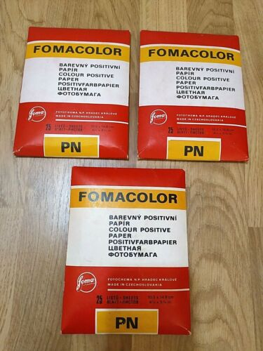 Vintage Color Glossy Photo Paper FOMACOLOR 25 sheets 10.5x14.8cm Expired 3pcs