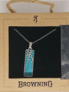 Browning Turquoise Stone Necklace