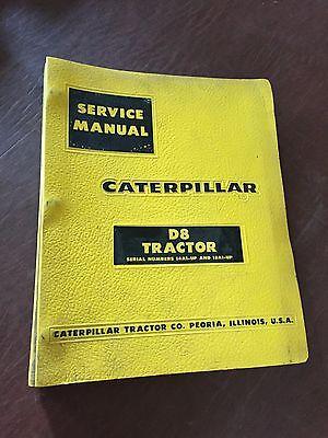 Caterpillar Cat Crawler D8 Dozer Tractor Service Manual 15a 14a