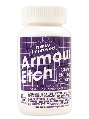Armour Etch Glass Etching Cream 10 oz Bottle. Craft Supply Mosaics Art  Armour Etch Glass Etching Cream