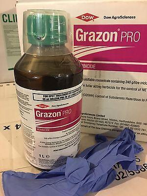 Grazon Pro Weed Killer Docks Nettles Thistles Brambles Safe to Grass Paddock 1lt