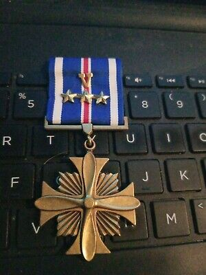 """Navy- USMC  Distinguished Flying Cross With Combat """"V"""" and 3- Gold Star --STORE!"""