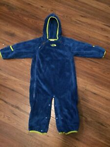 The North Face fleece suit Size 6-12 months