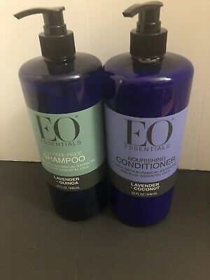 EO Essentials Hair Shampoo & Conditioner Lavender Coconut & Quinoa 32 fl oz Eo Coconut Shampoo
