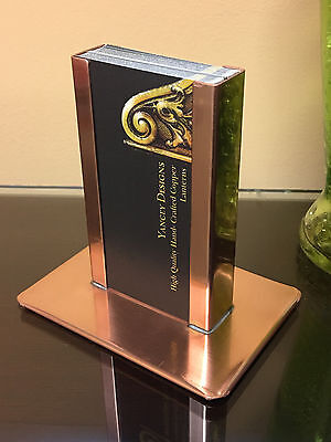 Yancey Handcrafted Vertical Copper Business Card Holder Made In Usa Anniversary