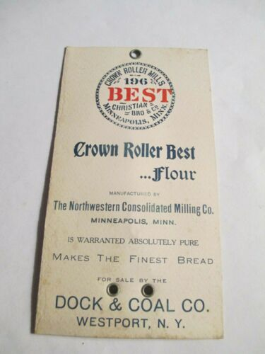 The Northwestern Consolidated Milling Co, MINNEAPOLIS MINN,DOCK & COAL Co,Tag