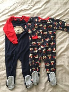 Boys size 2T fleece sleepers