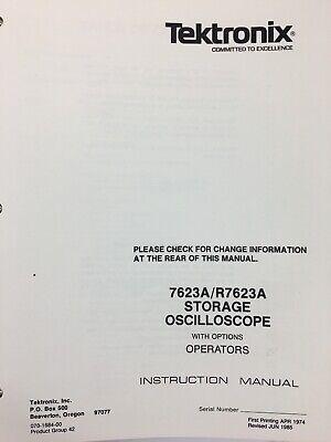 Tektronix 7623ar7623a Storage Oscilloscope Woptions Service Operators Manual