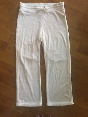 Terry Lounge Cover - Lauren Ralph Lauren Active Lounge Athletic Terry Pants Cover Up White L EUC Cute
