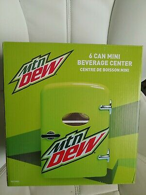 Mountain Dew Drink 6-can Mini Fridge Portable Car & Home Outlet Cords Free Ship