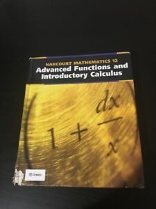 Gr. 12 Advanced Functions and Introductory Calculus
