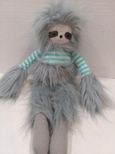 "Manhattan Toy Co Twiggies Sloth monkey 16"" Gray Plush Stuffe"