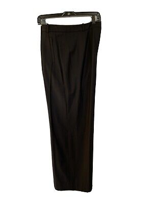 Armani Collezioni Slacks Pants Women Size 14 Black Excellent