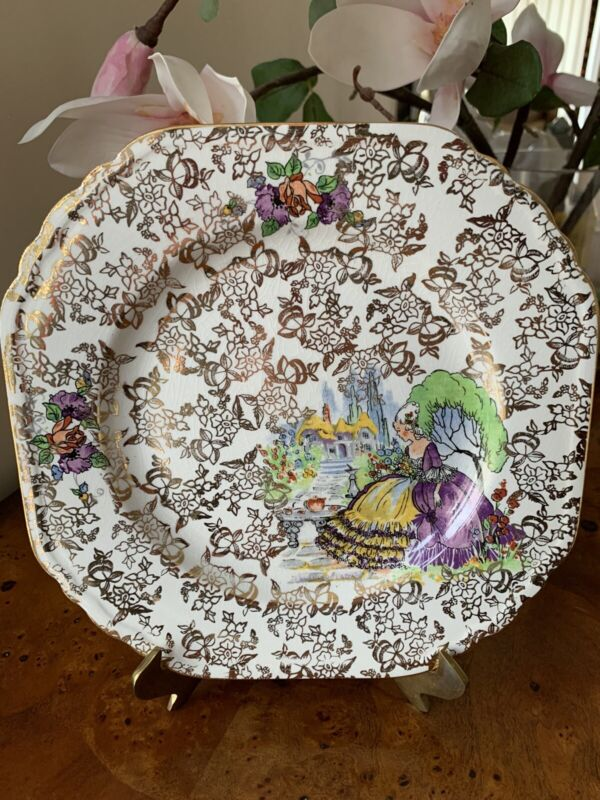 Vintage Lord Nelson Ware Elijah Cotton Staffordshire England Square Plate